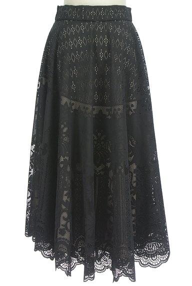 STRAWBERRY-FIELDS(ストロベリーフィールズ)の古着「シアーオリエンタル柄マキシスカート(ロングスカート・マキシスカート)」大画像2へ