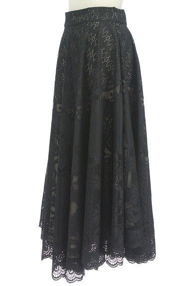 STRAWBERRY-FIELDS(ストロベリーフィールズ)の古着「シアーオリエンタル柄マキシスカート(ロングスカート・マキシスカート)」大画像3へ