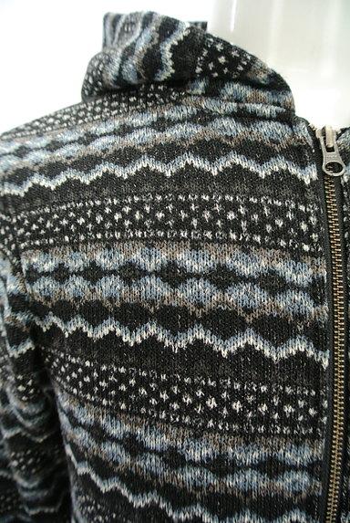 291295=HOMME(291295オム)の古着「ネイティブ柄ジップアップパーカー(カーディガン)」大画像4へ