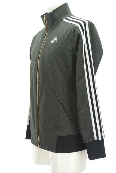 adidas(アディダス)の古着「ライン入りジップアップジャージ(ジャージトップス)」大画像3へ