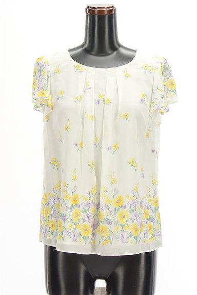 LAISSE PASSE(レッセパッセ)の古着「花柄シフォン+カーディガン(アンサンブル)」大画像5へ
