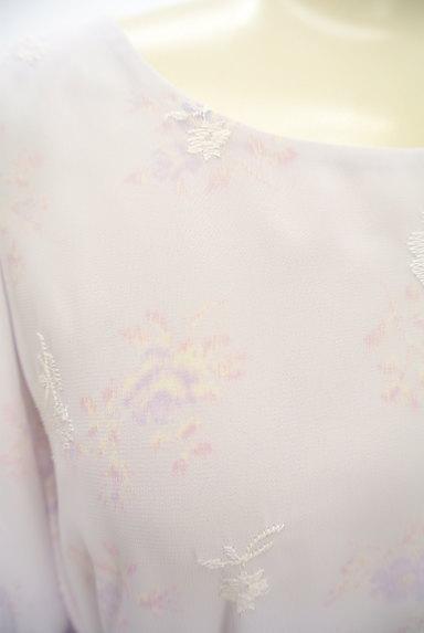 LAISSE PASSE(レッセパッセ)の古着「刺繍MIX美ラインシフォンワンピ(ワンピース・チュニック)」大画像4へ