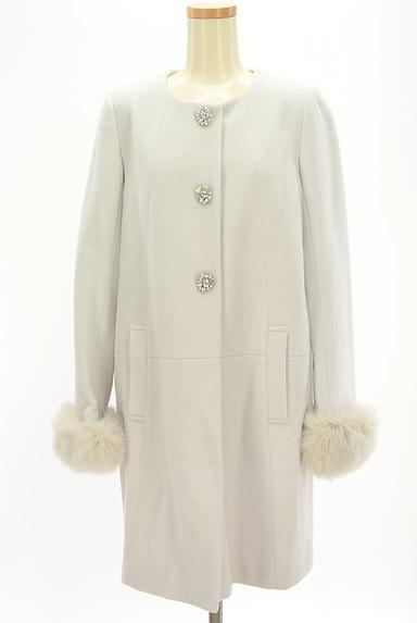LAISSE PASSE(レッセパッセ)の古着「ファー付ロングウールコート(コート)」大画像1へ