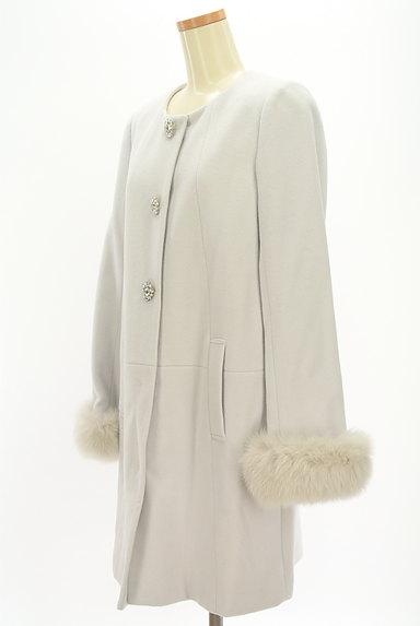 LAISSE PASSE(レッセパッセ)の古着「ファー付ロングウールコート(コート)」大画像3へ