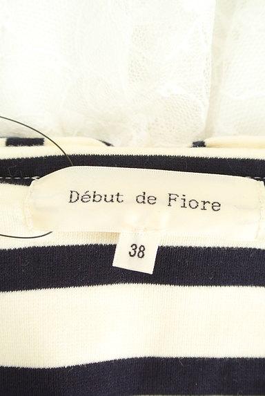 Debut de Fiore by LAISSE PASSE(デビュー・ド・フィオレ)の古着「バックリボン×レースデザイントップス(カットソー・プルオーバー)」大画像6へ