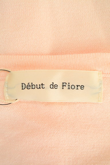 Debut de Fiore by LAISSE PASSE(デビュー・ド・フィオレ)の古着「シフォン×レースインナー付ニットカーデ(アンサンブル)」大画像6へ