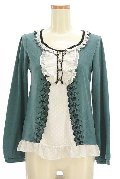 axes femme(アクシーズファム)の古着「レイヤード風刺繍入りカットソー(カットソー・プルオーバー)」大画像1へ