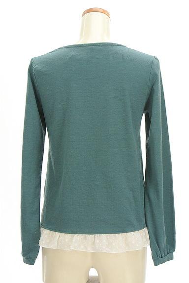 axes femme(アクシーズファム)の古着「レイヤード風刺繍入りカットソー(カットソー・プルオーバー)」大画像2へ