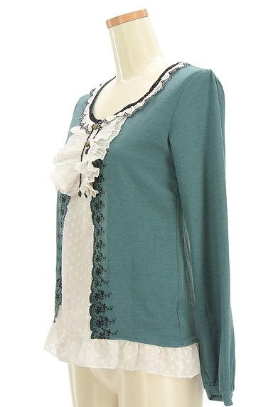 axes femme(アクシーズファム)の古着「レイヤード風刺繍入りカットソー(カットソー・プルオーバー)」大画像3へ
