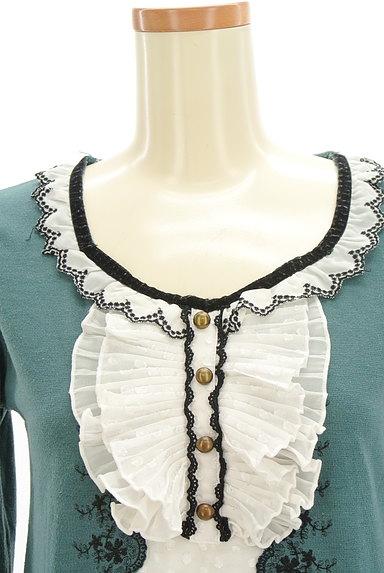 axes femme(アクシーズファム)の古着「レイヤード風刺繍入りカットソー(カットソー・プルオーバー)」大画像4へ