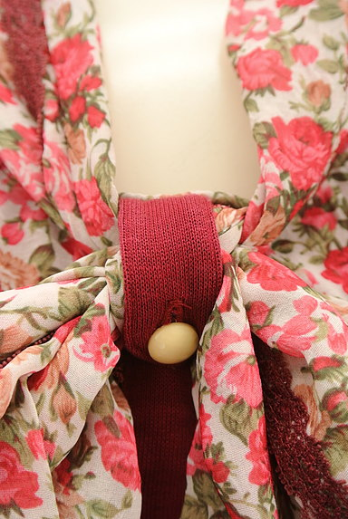 axes femme(アクシーズファム)の古着「花柄シフォン切替タイリボンカットソー(カットソー・プルオーバー)」大画像5へ