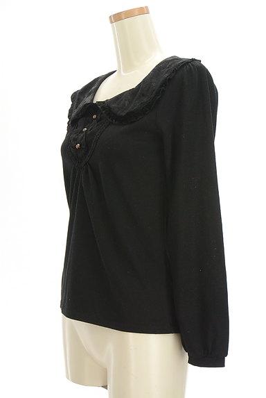 axes femme(アクシーズファム)の古着「ベロアフリル襟カットソー(カットソー・プルオーバー)」大画像3へ
