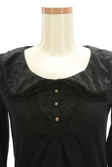 axes femme(アクシーズファム)の古着「ベロアフリル襟カットソー(カットソー・プルオーバー)」大画像4へ