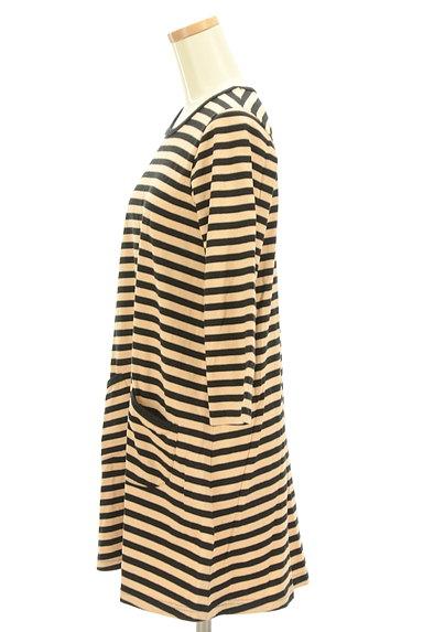marimekko(マリメッコ)の古着「ボーダーフレアワンピース(カットソー・プルオーバー)」大画像3へ