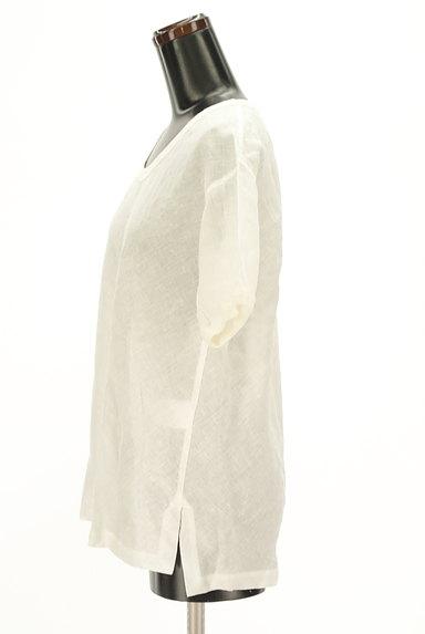 MARGARET HOWELL(マーガレットハウエル)の古着「シアーリネンカットソー(カットソー・プルオーバー)」大画像3へ