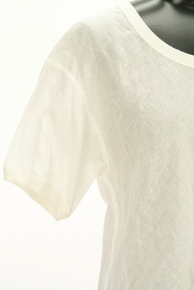 MARGARET HOWELL(マーガレットハウエル)の古着「シアーリネンカットソー(カットソー・プルオーバー)」大画像4へ