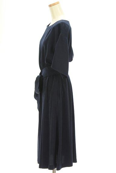 PLST(プラステ)の古着「ウエストリボン五分袖ワンピース(ワンピース・チュニック)」大画像3へ