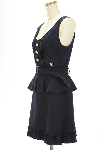 axes femme(アクシーズファム)の古着「装飾ボタンペプラムワンピース(キャミワンピース)」大画像3へ