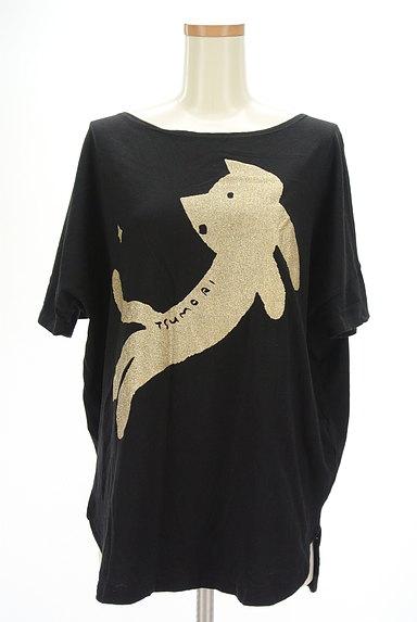 TSUMORI CHISATO(ツモリチサト)の古着「ラメネコプリントTシャツ(Tシャツ)」大画像1へ
