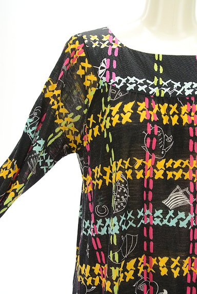 TSUMORI CHISATO(ツモリチサト)の古着「チェック×ポップ柄ワンピース(ワンピース・チュニック)」大画像4へ