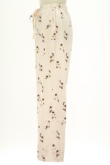 gelato pique(ジェラートピケ)の古着「ネコプリントサテンルームパンツ(パンツ)」大画像3へ