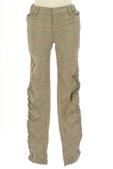 MAYSON GREY(メイソングレイ)の古着「サイドギャザーチェック柄パンツ(パンツ)」大画像1へ