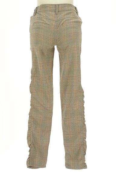 MAYSON GREY(メイソングレイ)の古着「サイドギャザーチェック柄パンツ(パンツ)」大画像2へ