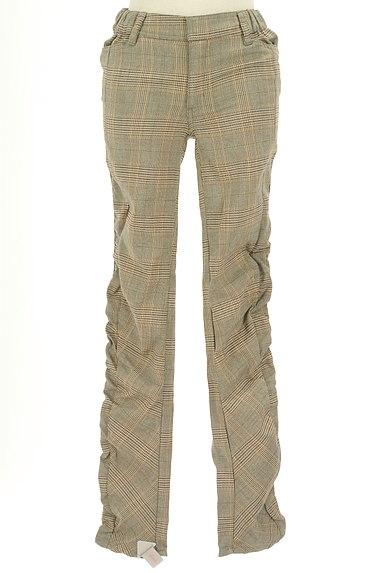MAYSON GREY(メイソングレイ)の古着「サイドギャザーチェック柄パンツ(パンツ)」大画像4へ