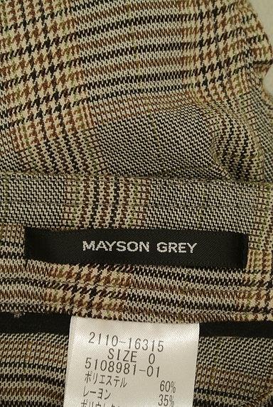 MAYSON GREY(メイソングレイ)の古着「サイドギャザーチェック柄パンツ(パンツ)」大画像6へ