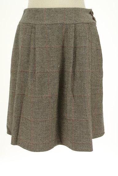 ef-de(エフデ)の古着「ヘリンボーン柄膝丈フレアスカート(スカート)」大画像1へ