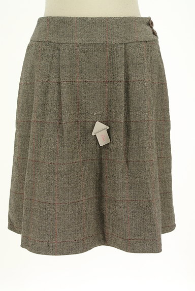 ef-de(エフデ)の古着「ヘリンボーン柄膝丈フレアスカート(スカート)」大画像4へ