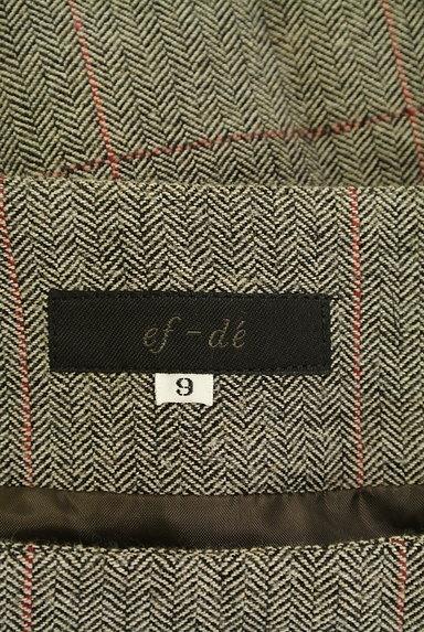 ef-de(エフデ)の古着「ヘリンボーン柄膝丈フレアスカート(スカート)」大画像6へ