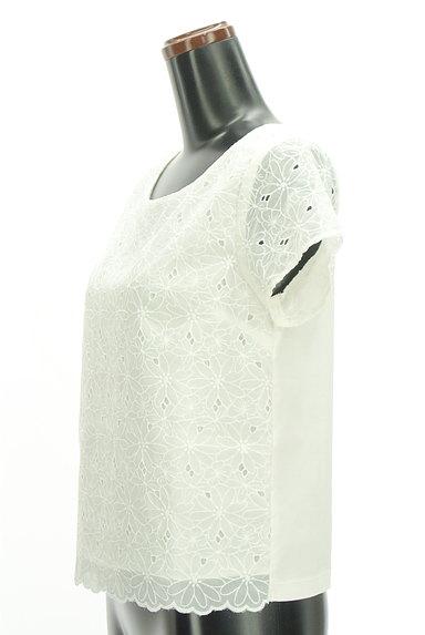 KUMIKYOKU(組曲)の古着「花柄刺繍シアーカットソー(カットソー・プルオーバー)」大画像3へ