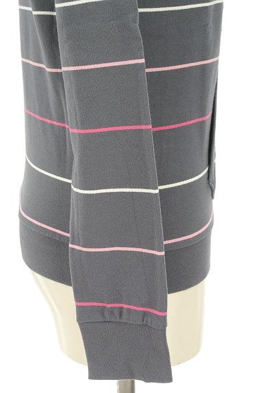 adidas(アディダス)の古着「ワンポイントボーダーフーディ(スウェット・パーカー)」大画像5へ