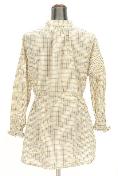 POU DOU DOU(プードゥドゥ)の古着「バンドカラーチェック柄シャツ(カジュアルシャツ)」大画像2へ