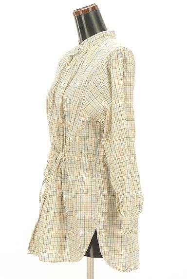 POU DOU DOU(プードゥドゥ)の古着「バンドカラーチェック柄シャツ(カジュアルシャツ)」大画像3へ