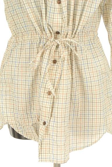 POU DOU DOU(プードゥドゥ)の古着「バンドカラーチェック柄シャツ(カジュアルシャツ)」大画像4へ
