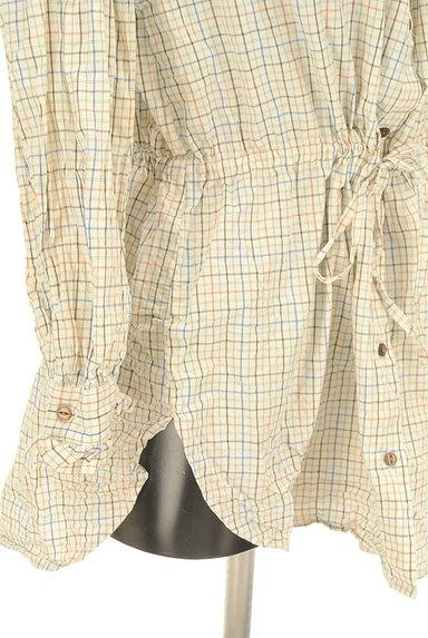 POU DOU DOU(プードゥドゥ)の古着「バンドカラーチェック柄シャツ(カジュアルシャツ)」大画像5へ