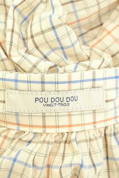 POU DOU DOU(プードゥドゥ)の古着「バンドカラーチェック柄シャツ(カジュアルシャツ)」大画像6へ