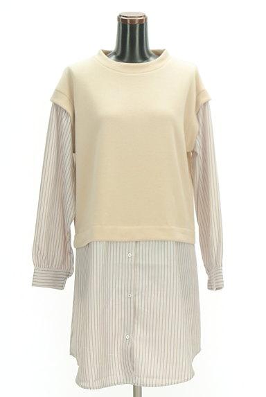 POU DOU DOU(プードゥドゥ)の古着「レイヤード風ロングシャツ(カットソー・プルオーバー)」大画像1へ