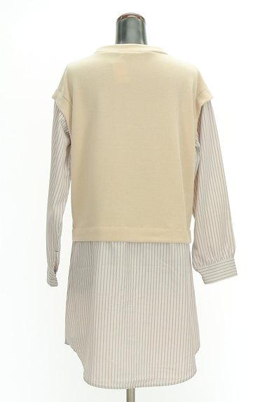 POU DOU DOU(プードゥドゥ)の古着「レイヤード風ロングシャツ(カットソー・プルオーバー)」大画像2へ