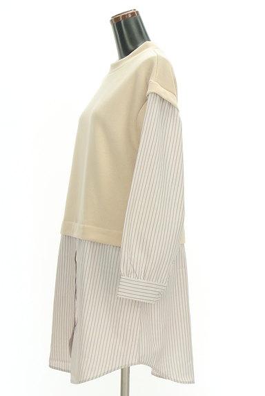 POU DOU DOU(プードゥドゥ)の古着「レイヤード風ロングシャツ(カットソー・プルオーバー)」大画像3へ