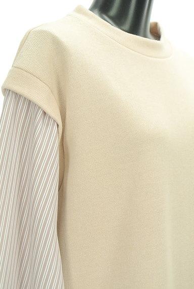 POU DOU DOU(プードゥドゥ)の古着「レイヤード風ロングシャツ(カットソー・プルオーバー)」大画像4へ