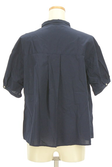 POU DOU DOU(プードゥドゥ)の古着「ストライプ柄切替バンドカラーシャツ(カジュアルシャツ)」大画像2へ