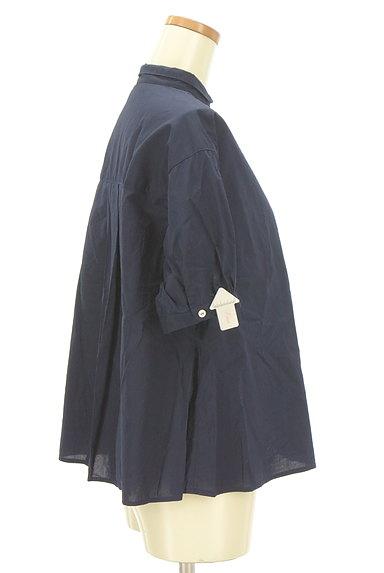 POU DOU DOU(プードゥドゥ)の古着「ストライプ柄切替バンドカラーシャツ(カジュアルシャツ)」大画像4へ