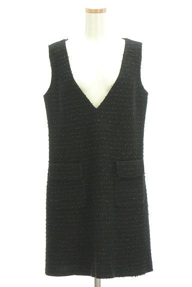 M-premier(エムプルミエ)の古着「Vネックラメジャンパースカート(オーバーオール・サロペット)」大画像1へ