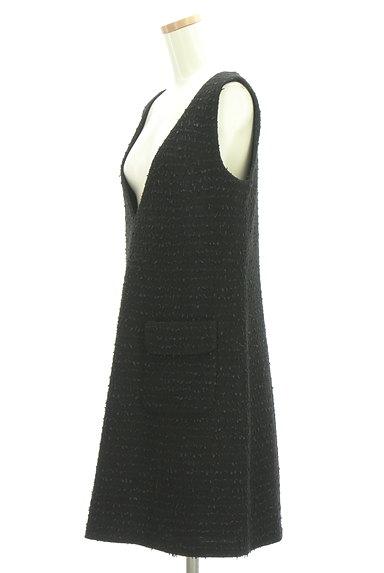 M-premier(エムプルミエ)の古着「Vネックラメジャンパースカート(オーバーオール・サロペット)」大画像3へ