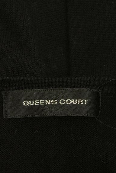QUEENS COURT(クイーンズコート)の古着「ロゴ入りスクエアボタンカーディガン(カーディガン・ボレロ)」大画像6へ