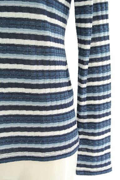 axes femme(アクシーズファム)の古着「装飾ボーダーカットソー(ニット)」大画像4へ