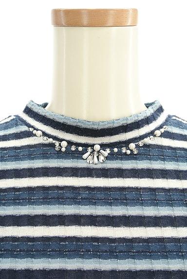 axes femme(アクシーズファム)の古着「装飾ボーダーカットソー(ニット)」大画像5へ